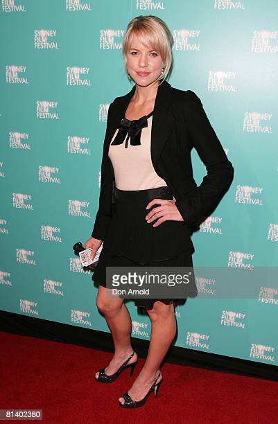 Jessica Napier attends the opening gala night and premiere of 'HappyGoLucky' during the 55th Sydney Film Festival at the State Theatre on June 4 2008...