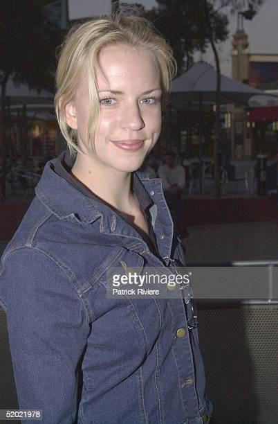 OCTOBER 2000 Jessica Napier Australian premiere of Bootmen at the Fox Studios in Sydney