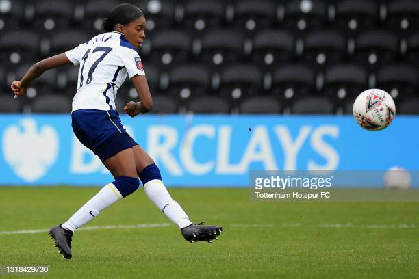 Jessica Naz of Tottenham Hotspur during the Vitality Women's FA Cup 5th Round match between Tottenham Hotspur Women and Sheffield United Women at The...