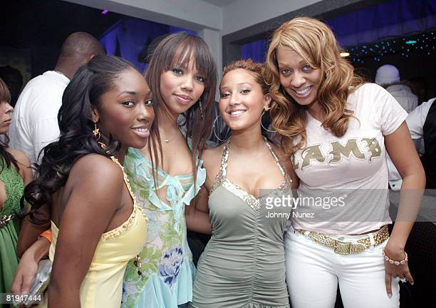 Jessica of 3LW Kiely Williams of 3LW Adrienne Bailon of 3LW and La La Vasquez of MTV