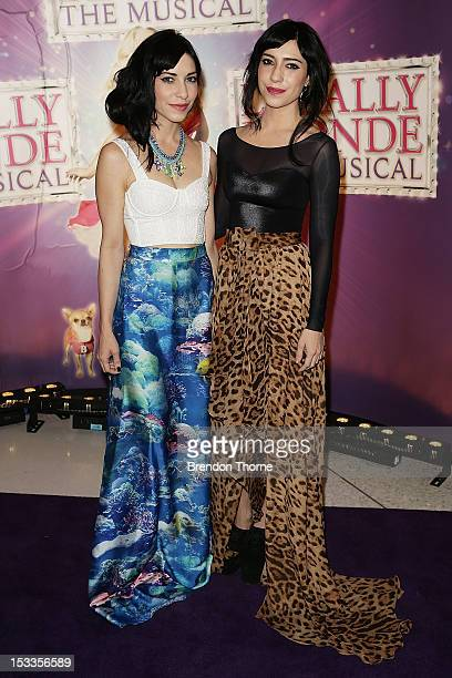 Jessica Origliasso and Lisa Origliasso arrive for the Australian Gala Premiere of 'Legally Blonde The Musical' at The Lyric Theatre on October 4 2012...