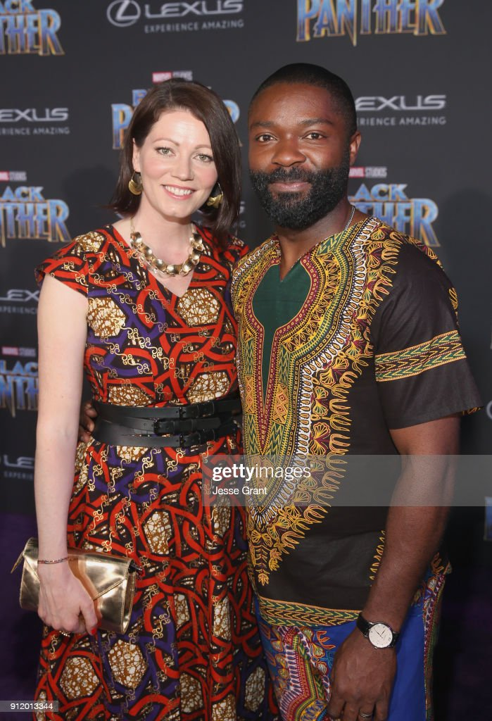 Jessica Oyelowo and David Oyelowo at the Los Angeles World Premiere of Marvel Studios' BLACK PANTHER at Dolby Theatre on January 29, 2018 in Hollywood, California.