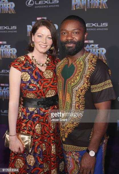 Jessica Oyelowo and David Oyelowo at the Los Angeles World Premiere of Marvel Studios' BLACK PANTHER at Dolby Theatre on January 29 2018 in Hollywood...