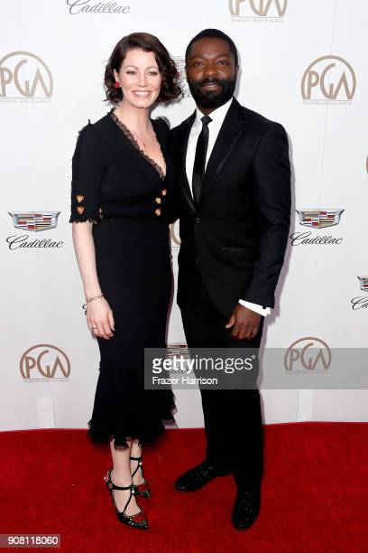 Jessica Oyelowo and David Oyelowo attend the 29th Annual Producers Guild Awards at The Beverly Hilton Hotel on January 20 2018 in Beverly Hills...