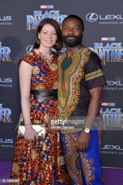 Jessica Oyelowo and David Oyelowo attend the premiere of Disney and Marvel's 'Black Panther' at Dolby Theatre on January 29 2018 in Hollywood...