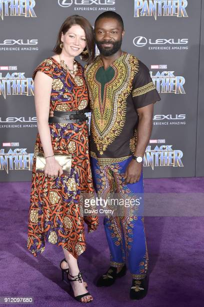 Jessica Oyelowo and David Oyelowo attend the Premiere Of Disney And Marvel's 'Black Panther' Arrivals on January 29 2018 in Hollywood California