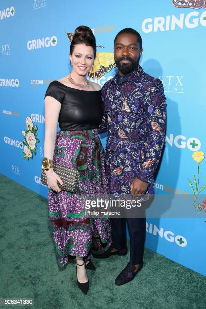 Jessica Oyelowo and David Oyelowo attend the world premiere of 'Gringo' from Amazon Studios and STX Films at Regal LA Live Stadium 14 on March 6 2018...