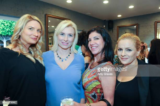 Jessica Paisley Megan O'Brien Nicole Fields and Vered Nisim attend A Night Out a fundraising event benefiting #MoveToEndDV hosted by Beverly Hills...
