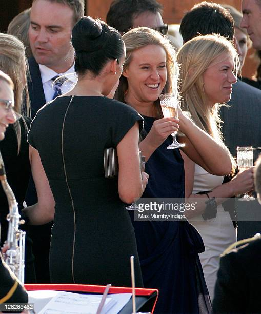 Jessica Palmer attends Zara Phillips's and Mike Tindall's prewedding party on the Royal Yacht Britannia on July 29 2011 in Edinburgh Scotland