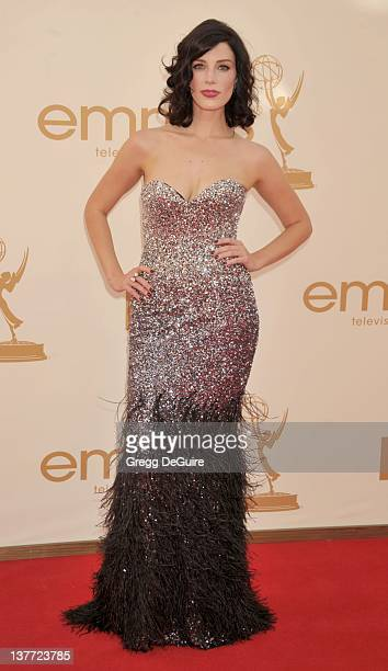 Jessica Pare arrives at the Academy of Television Arts & Sciences 63rd Primetime Emmy Awards at Nokia Theatre L.A. Live on September 18, 2011 in Los...