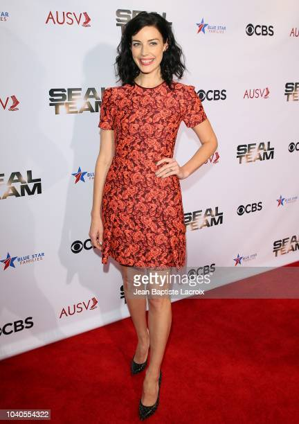 Jessica Pare attends CBS's 'Seal Team' season 2 premiere screening held at Historic American Legion Post 43 on September 25 2018 in Los Angeles...
