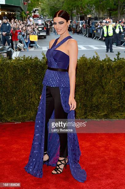 Jessica Pare attends the Costume Institute Gala for the PUNK Chaos to Couture exhibition at the Metropolitan Museum of Art on May 6 2013 in New York...