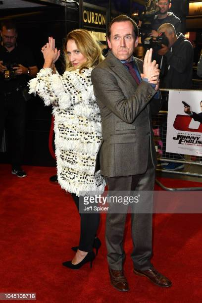 Jessica Parker and Ben Miller attend a special screening of Johnny English Strikes Again at The Curzon Mayfair on October 3 2018 in London England