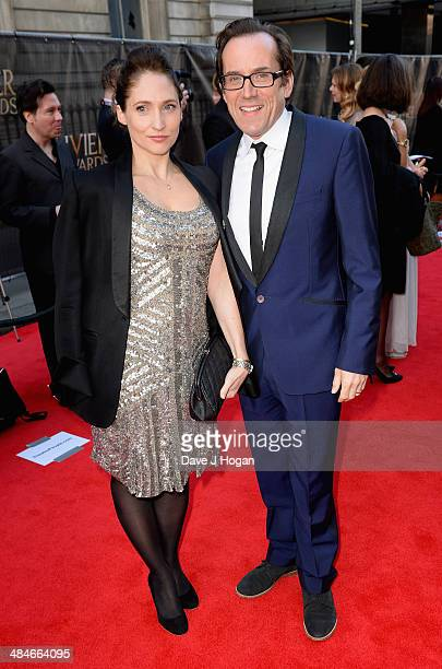 Jessica Parker and Ben Miller attend the Laurence Olivier Awards at the Royal Opera House on April 13 2014 in London England