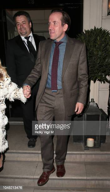 Jessica Parker and Ben Miller seen attending 'Johnny English Strikes Again' screening afterparty at Morton's on October 3 2018 in London England