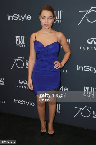 Jessica Parker Kennedy attends the Hollywood Foreign Press Association and InStyle celebrate the 75th Anniversary of The Golden Globe Awards at Catch...