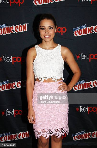 Jessica Parker Kennedy in the 'Black Sails' Press Room at 2014 New York Comic Con Day 3 at Jacob Javitz Center on October 11 2014 in New York City