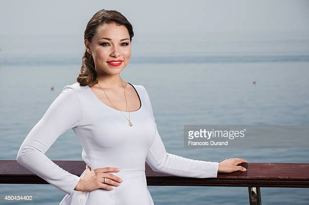 Jessica Parker Kennedy poses during a portrait session at Grimaldi Forum on June 10 2014 in Monaco Monaco
