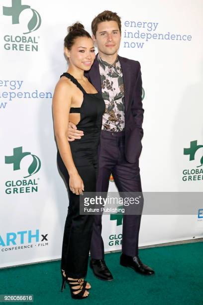 Jessica Parker Kennedy Ronen Rubinstein photographed at the 15th Annual Global Green PreOscar Gala on February 28 2018 in Los Angeles California