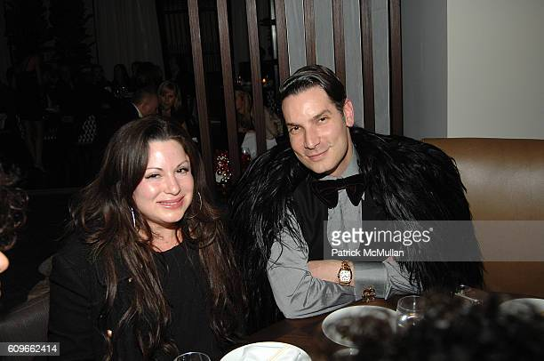 Jessica Pastor and Cameron Silver attend Alexandra Von Furstenberg Jacqui Getty Ryan Haddon Shiva Rose Holiday Party at Thompson Beverly Hills' Bond...