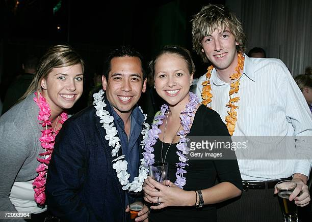 Jessica Patterson Kristian Dowling Rebecca O'Reilly and Sean Andreson at the Getty Images Spring Event a Welcome to Spring themed client event at...