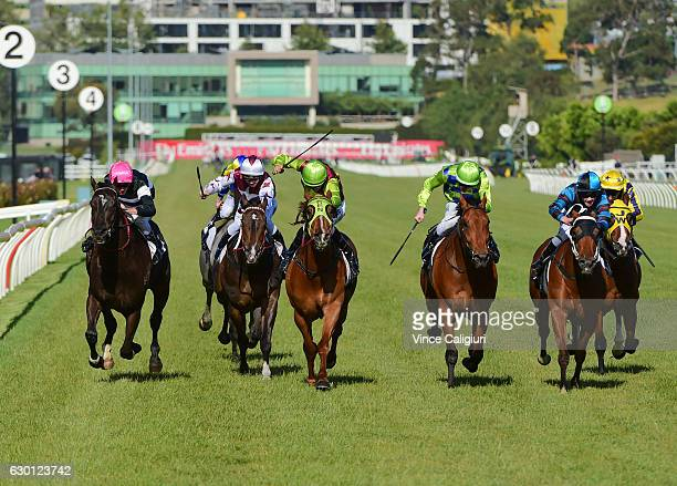 Jessica Payne riding My Survivor wins Race 9 at Flemington Racecourse on December 17 2016 in Melbourne Australia