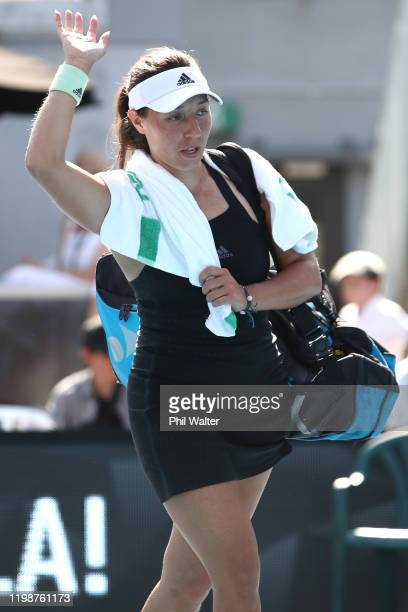 Jessica Pegula of the USA following her semifinal match against Caroline Wozniacki of Denmark during day six of the 2020 Women's ASB Classic at ASB...