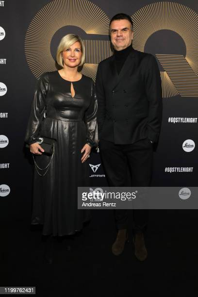 Jessica Peppel-Schulz and Andre Pollmann attends the GQ Style Night during Berlin Fashion Week Autumn/Winter 2020 at BRICKS Berlin on January 15,...
