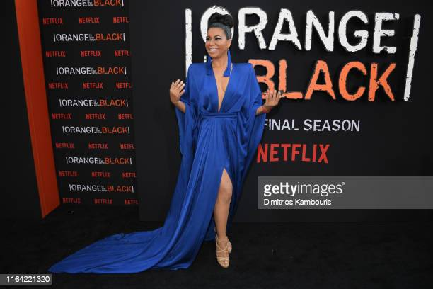"Jessica Pimentel attends the ""Orange Is The New Black"" Final Season World Premiere at Alice Tully Hall, Lincoln Center on July 25, 2019 in New York..."