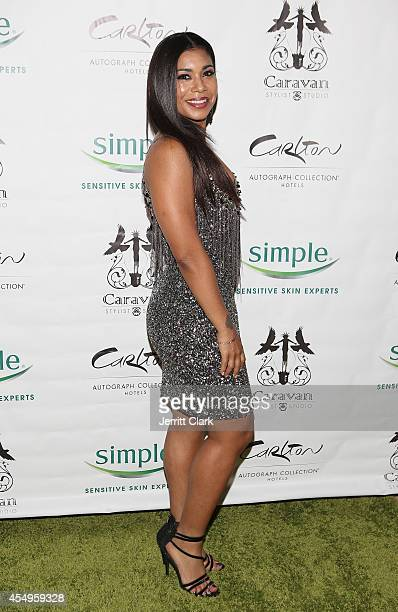Jessica Pimentel attends the Simple Skincare Caravan Stylist Studio Fashion Week Event on September 7 2014 in New York City