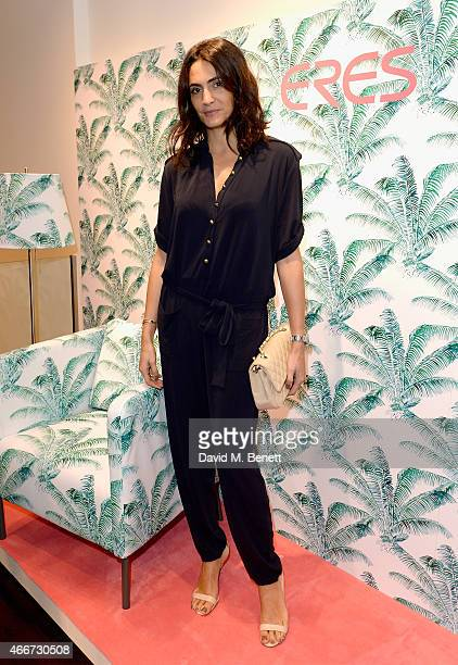 Jessica Pires attends the Eres London Boutique and Capsule Collection Launch party on March 18 2015 in London England