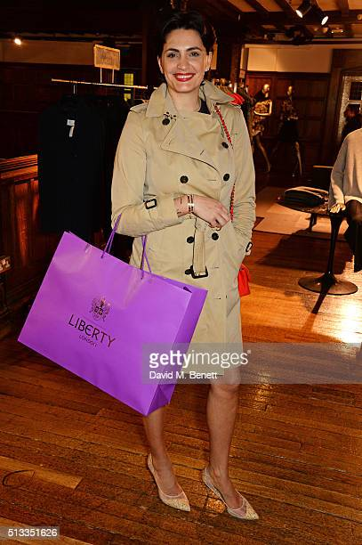 Jessica Pires attends the Liberty x mothers2mothers charity event at Liberty on March 2 2016 in London United Kingdom