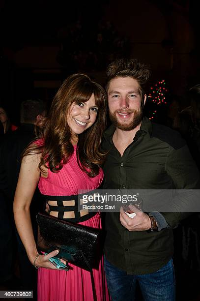 Jessica Radloff and Chris Lane attend Audi Celebrates The Holidays In Aspen And Snow Polo 2014 on December 20 2014 in Aspen Colorado