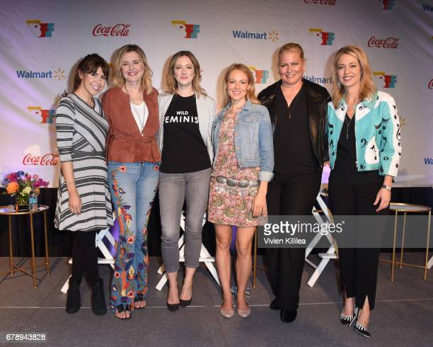 Jessica Radloff Geena Davis Judy Greer Jewel Emme and Pam Kaufman attend the 3rd Annual Bentonville Film Festival on May 4 2017 in Bentonville...