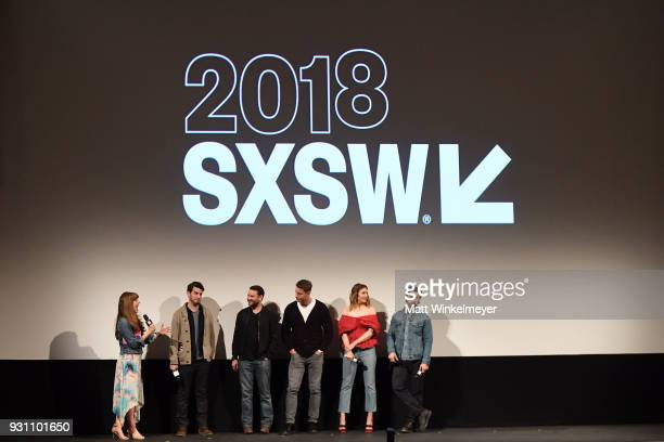 Jessica Radloff Issac Aptaker Dan Fogelman Justin Hartley Mandy Moore and Milo Ventimiglia attend the 'This is Us' Premiere 2018 SXSW Conference and...