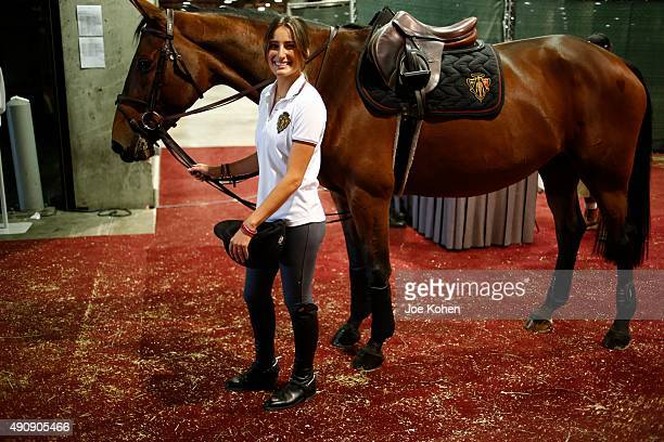 Jessica Rae Springsteen attends 2nd Annual Longines Masters Of Los Angeles at Los Angeles Convention Center on October 1, 2015 in Los Angeles,...