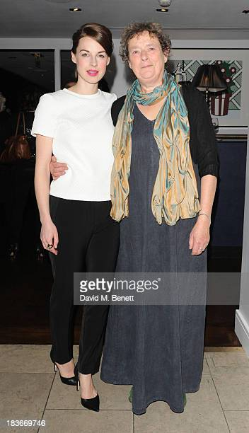 Jessica Raine and Linda Bassett attends an after party following the press night performance of the Donmar's Roots at The Hospital Club on October 8...