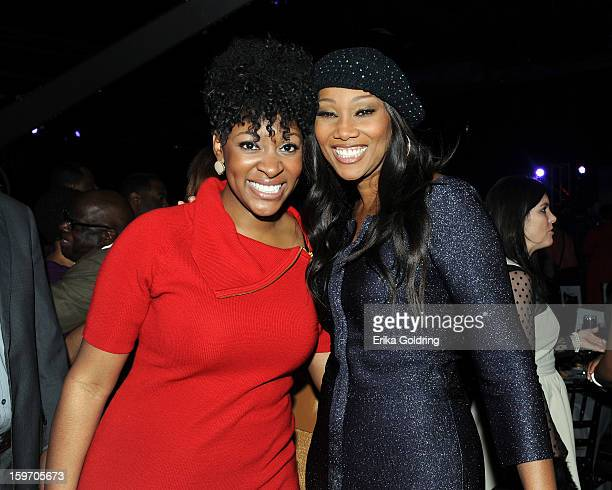 Jessica Reedy and Yolanda Adams attend the 14th annual BMI Trailblazers of Gospel Music Awards at Rocketown on January 18 2013 in Nashville Tennessee