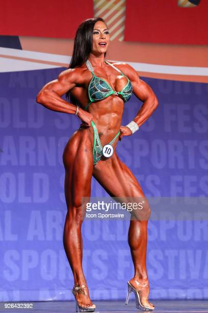 Jessica Reyes Padilla competes in Figure International as part of the Arnold Sports Festival on March 2 at the Greater Columbus Convention Center in...