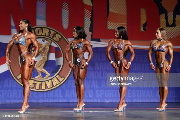 Jessica Reyes Padilla Cydney Gillon Nadia Wyatt and Natalia Soltero compete in Figure International as part of the Arnold Sports Festival on March 1...