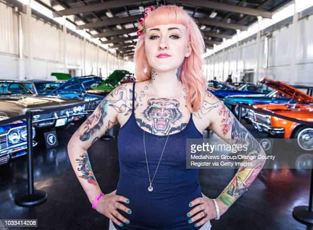 Jessica Robbins of Oakland attending the 8th Annual Musink Tattoo Convention Music Festival in Costa Mesa says I don't think about my tattoos I just...