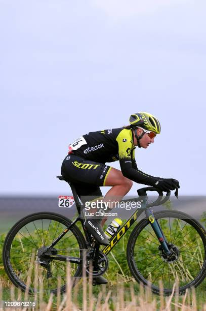 Jessica Roberts of The United Kingdom and Team MitcheltonScott / during the 16th Spar Omloop Van Het Hageland 2020 Women Elite a 130km race from...