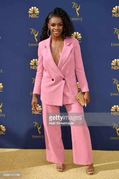 Jessica Robin Moore attends the 70th Emmy Awards at Microsoft Theater on September 17 2018 in Los Angeles California
