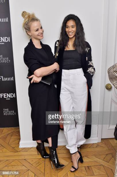 Jessica Roffey and Lisa Marie attend FENDI x Flaunt Celebrate The New Fantasy Issue at Casa Perfect on March 21 2018 in Beverly Hills California