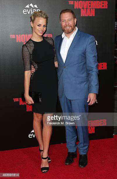 Jessica Roffey and Ryan Kavanaugh attend the Premiere of Relativity Media's The November Man at the TCL Chinese Theatre on August 13 2014 in...