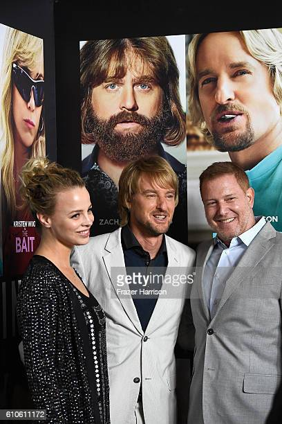 Jessica Roffey Owen Wilson and CEO of Relativiity Meida Ryan Kavanaugh attend the Premiere of Relativity Media's Masterminds at TCL Chinese Theatre...
