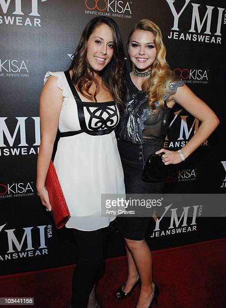 Jessica Roth and Aimee Teegarden attend the YMI Jeanswear 5th Annual Fashion Show and AfterParty at the Music Box Theatre on October 6 2008 in...