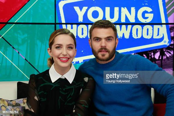 Jessica Rothe and Alex Roe at the Young Hollywood Studio on January 16 2017 in Los Angeles California