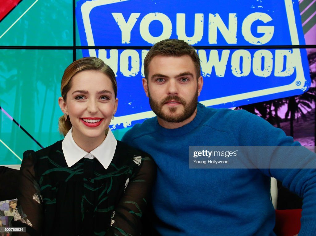 Alex Roe And Jessica Rothe Visit Young Hollywood Studio