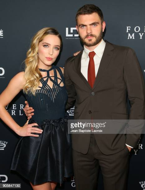 Jessica Rothe and Alex Roe attend the premiere of Roadside Attractions' 'Forever My Girl' on January 16 2018 in Los Angeles California